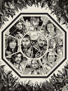 Jack, Locke, Sawyer, Kate, Claire, Charlie, Hurley, Sayid, Jin, Sun
