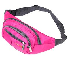 Naoki Outdoor Sports Cycling Hiking Camping Climbing Fishing Travel Waterproof Nylon Adjustable Strap Waist Pack Shoulder BagRosered -- Check this awesome product by going to the link at the image. Waist Pack, Hiking Equipment, Sling Backpack, Cycling, Backpacks, Climbing, Fishing, Bags, Note
