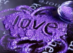 purple glitter ~ love