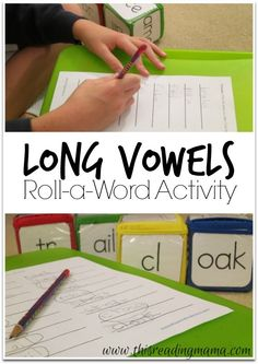 Long Vowels Roll-a-Word Activity {Freebie!} ~ a fun way to spell those tricky long vowel word patterns!