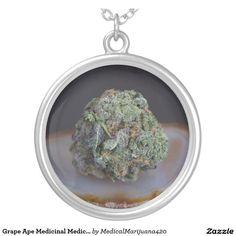 Grape Ape Medicinal Medical Marijuana Round Pendant Necklace