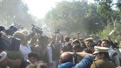 Delhi slum demolition: AAP, TMC protest at Gandhi statue outside Parliament