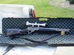 Marlin lever action hunting rifle