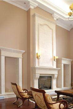 Marble Fireplace Mantel, Stone Mantel, Tall Fireplace, Limestone Fireplace, Fireplace Mantle, Fireplace Surrounds, Fireplace Design, Fireplaces, Fireplace Ideas