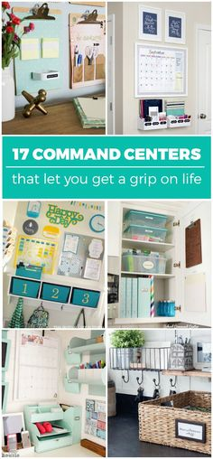 17 Command Centers that Let You Get a Grip on Life Lauren B Montana Diy Organisation, Office Organization, Household Organization, Bathroom Organization, Diy Kitchen Storage, Diy Storage, Storage Ideas, Paper Storage, Kitchen Tips