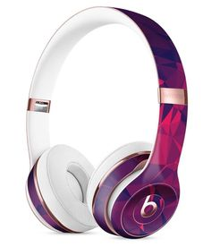 Vivid Fuchsia Geometric Triangles Full-Body Skin Kit for the Beats by Dre Solo 3 Wireless Headphones
