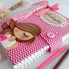 Felt Crafts Dolls, Foam Crafts, Paper Crafts, Paper Toys, Diy Crafts Hacks, Diy Arts And Crafts, Crafts For Kids, Notebook Cover Design, Cute Notebooks
