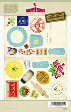 FarmHouse Paper Company — Country Kitchen Secret Recipe chipboard