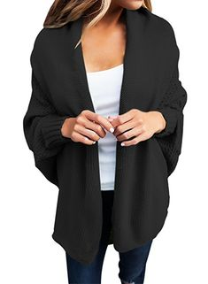 Dearlove Dolman Sleeve Open Front Knit Cardigan ($20) via @AOL_Lifestyle Read more: https://www.aol.com/article/lifestyle/2017/12/11/the-best-amazon-sweaters-under-dollar25/23304159/?a_dgi=aolshare_pinterest#fullscreen