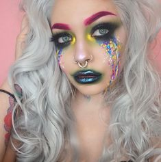 "384 Likes, 11 Comments - Brooke 🦄 (@jabbasmakeup) on Instagram: ""Crying rainbows as per usual 🌈🌈🌈 got this new wig from @heahair and I'm feeling all of my witchy…"""