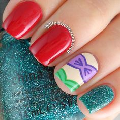 More than 150 Disney Nails! Take this list of Disney nail design ideas to your next manicure and your nails will look amazing. Love Nails, How To Do Nails, Fun Nails, Pretty Nails, Disney Nail Designs, Cute Nail Designs, Awesome Designs, Nails For Kids, Girls Nails