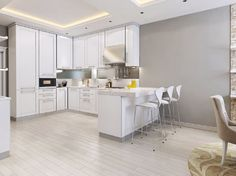 white marble kitchen benchtop