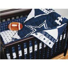 Nebraska Furniture Mart – Sports Coverage NFL Dallas Cowboys Crib Set with Bumper Derek's dream baby boy nursery :)