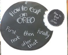 """First Grade Wow: Anchor Chart """"How to"""" Writing - How to Eat an Oreo"""