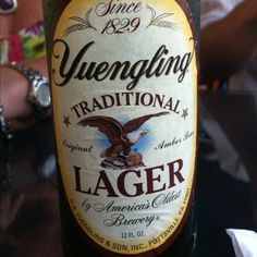 Yeungling Lager. Wish they had this on the West coast!