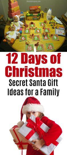 12 Days Of Christmas Secret Santa Gift Ideas 12 Days Of Xmas 12 Days Of Christmas Best Secret Santa Gifts