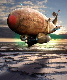 #Steampunk Airship by: BonnySaintANdrew #Xerposa.