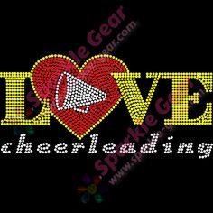 "alt=""Love Cheerleading with a Megaphone Heart"""