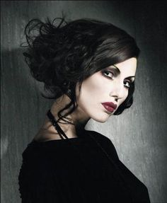 Gothic wedding - hair and make-up