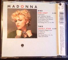 Madonna - Holiday (Cd Single - Yellow series) BACK #Madonna
