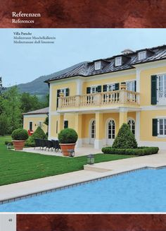 Unika Natursteinkatalog Villa, Mansions, House Styles, Home Decor, Natural Stones, Decoration Home, Manor Houses, Room Decor, Villas