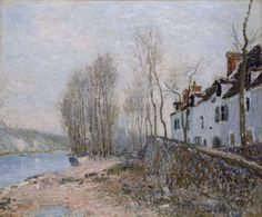 Alfred Sisley (1839-1899)  - Saint-Mammès, La Croix-Blanche - 1884 - Arp Museum Rolandseck Bahnhof (Germania), collezione Rau per l'UNICEF .