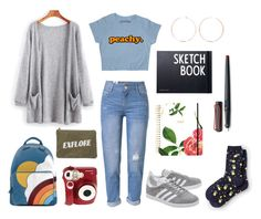 """""""Artistic survivor"""" by cheyennechue on Polyvore featuring adidas Originals, WithChic, Anya Hindmarch, Anita Ko, Izola, Polaroid, Design Letters, Kate Spade, Lamy and Talbots"""