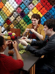 ... classes in both knitting and crochet to workshops in all sorts of