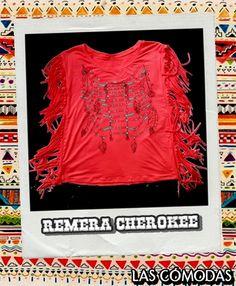 Remera de algodón estampada  Color: Roja  Talle único.