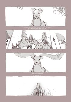Thranduil and his Elk. - * In the first pic the adult elf is Oropher.  * I ignored the life limitation of the elk, sorry. :'(