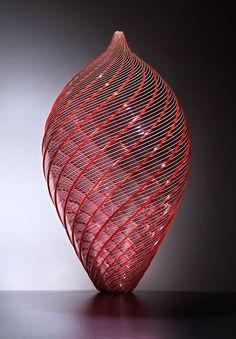 ROJ4589 - Lino Tagliapietra Bottle Vase, Bottles, Modern Sculpture, Craft Work, Glass Art, Sculptures, Creative, Artwork, It's Amazing