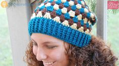 This is a really nice crochet granny stripes hats. This free pattern is for adult women.