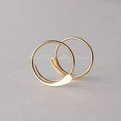Gold Hoop Earrings Hammered Open Hoops 14k Gold Filled Choose