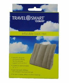 Travel Smart Inflatable Back Rest by Travel smart. Save 45 Off!. $5.99. Specially designed contoured ribbing and soft flocked material provides extreme comfort and support to your back. Special safety valve for easy inflating. Deflates to a very compact, easy to store size. Washable