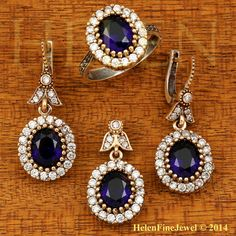 Ottoman Collection Hurrem Sultan Set Oval Shape by helenfinejewels