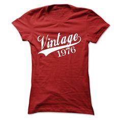 VINTAGE 1976 T-shirt and Hoodie  Birth years shirt T Shirt, Hoodie, Sweatshirt