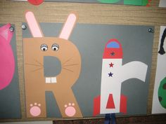 This page is a lot of letter R crafts for kids. There are letter R craft ideas and projects for kids. If you want teach the alphabet easy and fun to kids,you can use these activities.You can also find on this page template for the letter R. Letter R Activities, Preschool Letter Crafts, Alphabet Letter Crafts, Abc Crafts, Alphabet Phonics, Teaching The Alphabet, Daycare Crafts, Preschool Activities, Letter Art