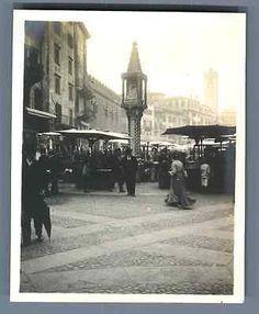 Italia, Verona, Mercato in Verona Vintage silver print. Verona, Vintage Italy, Vintage Silver, Past, Street View, Italia, Past Tense
