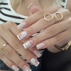 Fabulous Nails, Perfect Nails, Gorgeous Nails, Love Nails, Pretty Nails, My Nails, Rose Gold Nails, White Nails, Manicure E Pedicure