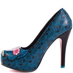 Skull Heel Shoes | heels com all shoes iron fist savage skull heel turquoise