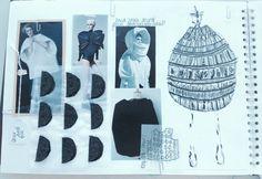 Fashion Sketchbook - sculptural fashion design development; fashion sketch; fashion portfolio // Rhianna Morton