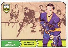 Real Lemieux - Los Angeles Kings. 1968-69 O-Pee-Chee rookie card.
