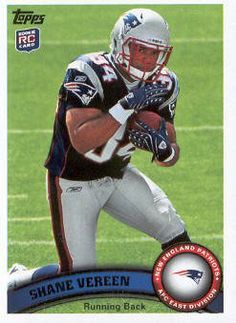 2011 Topps Football #402 Shane Vereen RC/(running pose) NFL Trading Card by Topps. $1.99. 2011 Topps Co. trading card in near mint/mint condition, authenticated by Topps Collectibles