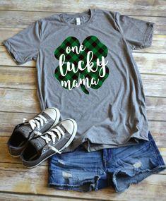b4350d7bb0b9 St Patrick's Day Shirt: Shamrock One Lucky Mama Diy St Patricks Day Shirt,  St