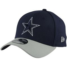 save off a3a84 63329 New Era Dallas Cowboys TD Classic 39THIRTY Hat - Navy Blue Silver