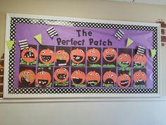 Preschool Halloween, fall, pumpkin bulletin board