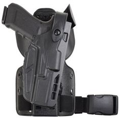 Model 7004-SP6 7TS™ SLS UFA(Universal Flex Adapter) with Paddle and Single Strap Leg Shroud Tactical Holster,