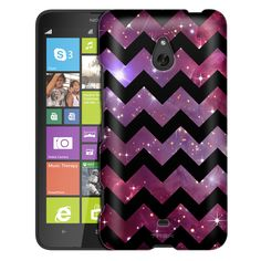 Nokia Lumia 1320 Chevron Nebula Black Slim Case
