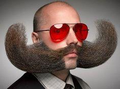 Magiska ögonblick från skägg & mustasch-VM 2014. Här snackar vi ambitiös ansiktsbehåring!