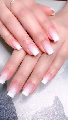 Simple Nails, Simple Acrylic Nail Ideas, Acrylic Nail Designs Classy, French Tip Nail Designs, Easy Nails, Nail Art Designs Videos, Diy Nails Videos, Popular Nail Designs, Milky Nails